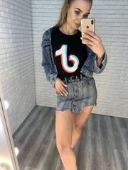 джинсовая юбка-шорты короткая оптом