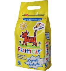 """Наполнитель комкующийся  комкующийся для кошачьих туалетов """"Супер белый"""", PrettyCat"""