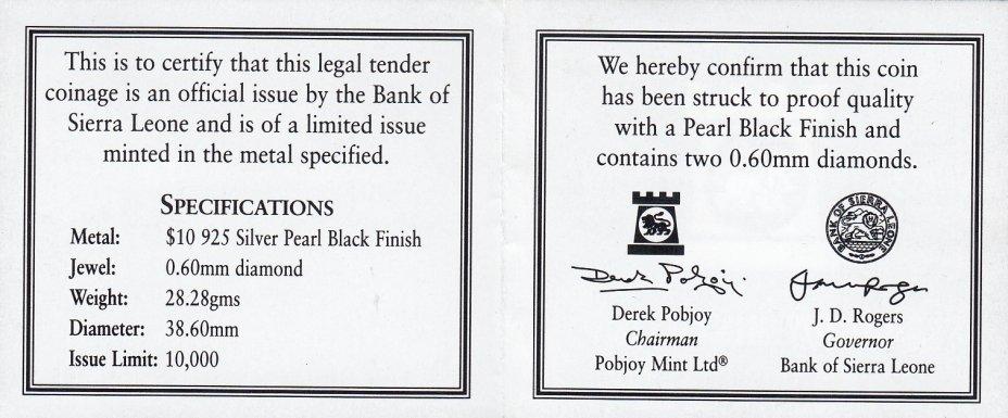 Набор из 4 монет 10 долларов 2008. Ночные животные. Сьерра-Леоне. Со вставками из бриллиантов в подарочной упаковке