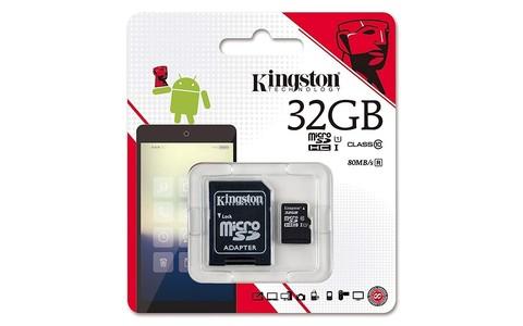 Карты памяти MicroSD 32GB Kingston Class 10 Canvas Select UHS-I U1 (80 Mb/s) + SD адаптер