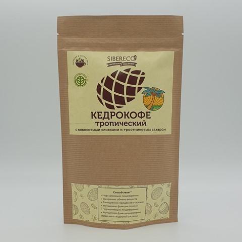 Кедрокофе тропический с кокосовыми сливками и тростниковым сахаром SIBERECO, 250 гр