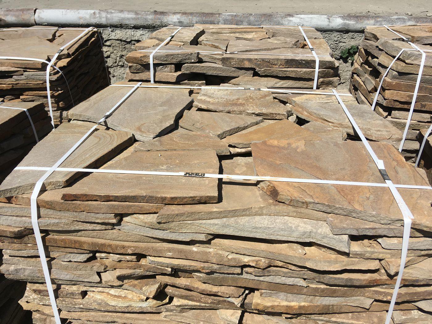 Песчаник плитняк Дуб на поддоне