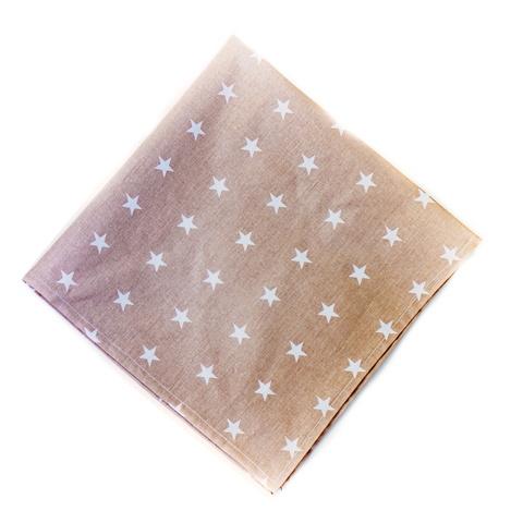 Салфетка 70*70 (большая) коричневая со звездами