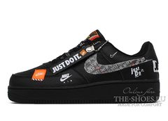 Кроссовки Nike Air Force 1 Just Do It Pack Black