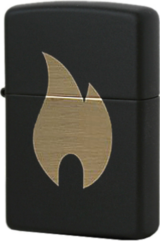 Зажигалка 218 Flame Chromed Black Matte