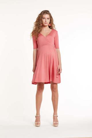 Платье для беременных и кормящих 11449 коралл