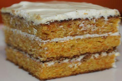 Веганский Морковный Торт без глютена с разными прослойками