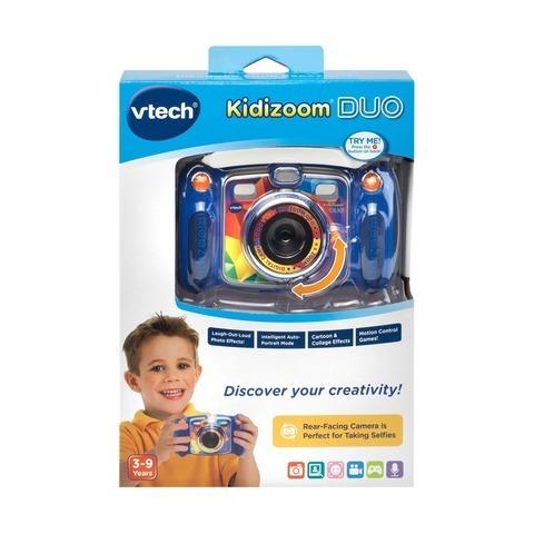 Vtech. Цифровая камера Kidizoom duo голубого цвета