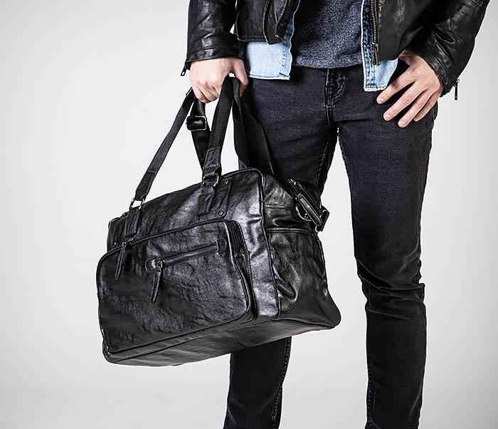 BAG545 Вместительная сумка для поездок из кожи фото 03