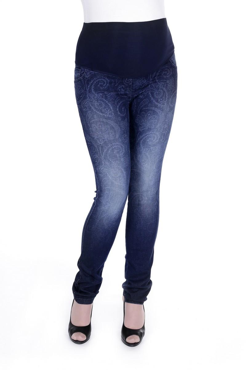 Фото джинсы для беременных GEMKO, зауженные, средняя посадка, высокая вставка от магазина СкороМама, синий, размеры.