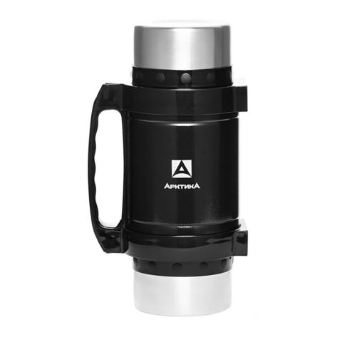 Термос универсальный (для еды и напитков) Арктика (2 литра) с супер-широким горлом, чёрный