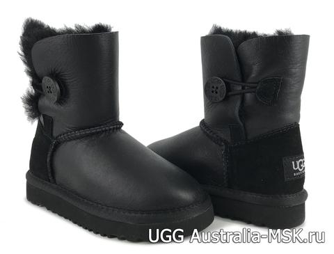 UGG Kids Balley Button Metallic Black