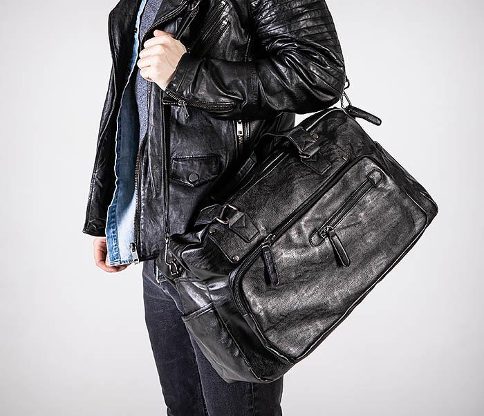 BAG545 Вместительная сумка для поездок из кожи фото 05
