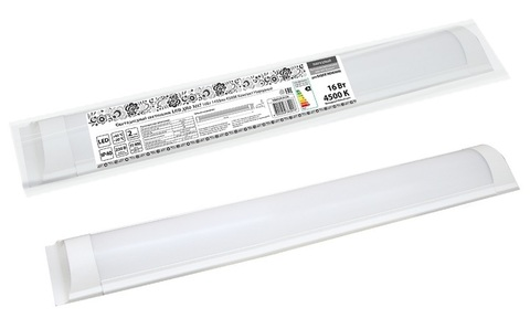 Светодиодный светильник LED ДПО 3017 16Вт 1450лм 6500К  Компакт Народный