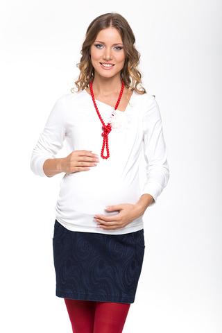 Блузка для беременных 01743 белый