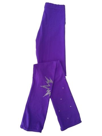 Термолосины на каблук, со стразами (фиолетовый, Colorado)