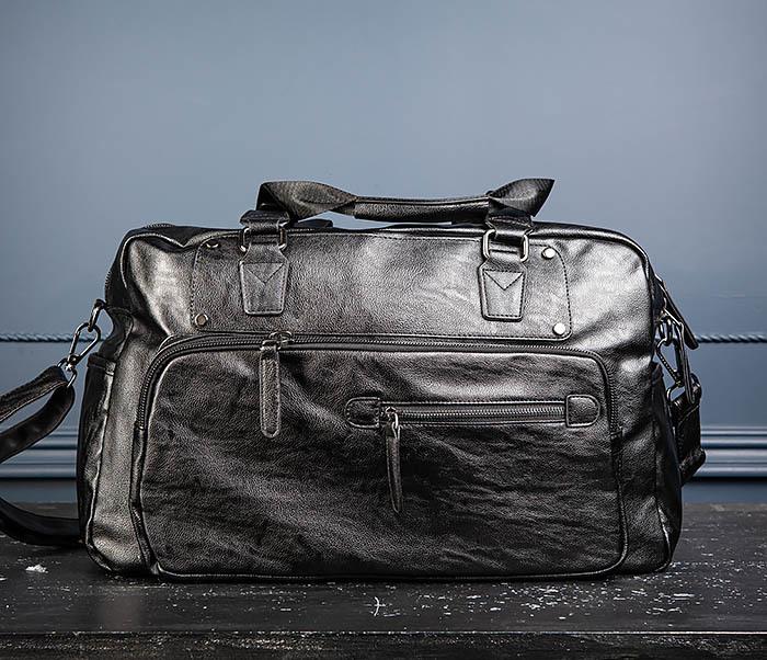 BAG545 Вместительная сумка для поездок из кожи фото 06