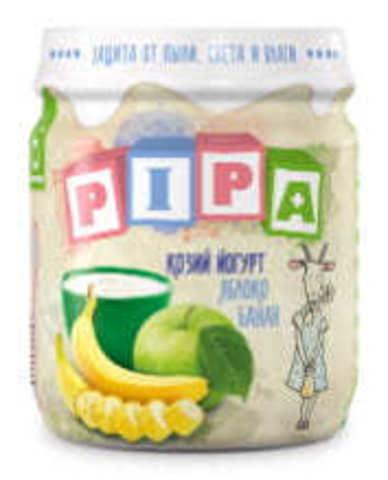Козий йогурт с яблоком и бананом 100г. Pipa