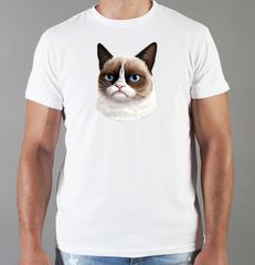 Футболка с принтом Кот, Кошка, Котенок (кошки) белая 0071