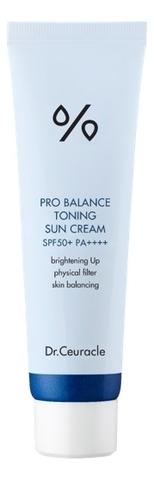Солнцезащитный Kрем С Тонирующим Эффектом  DR. CEURACLE Pro Balance Toning Sun Cream SPF 50+ PA++++