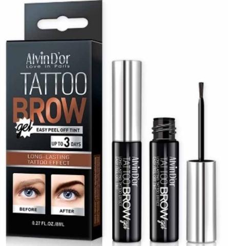 Alvin D`or EG-01 Гель-тинт для бровей Tattoo brow gel 8мл в короб (тон 02 dark brown)
