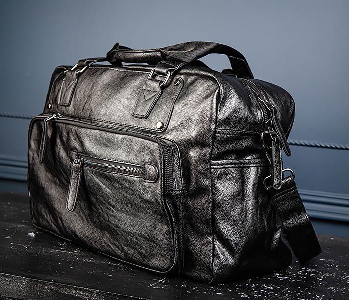 BAG545 Вместительная сумка для поездок из кожи фото 08