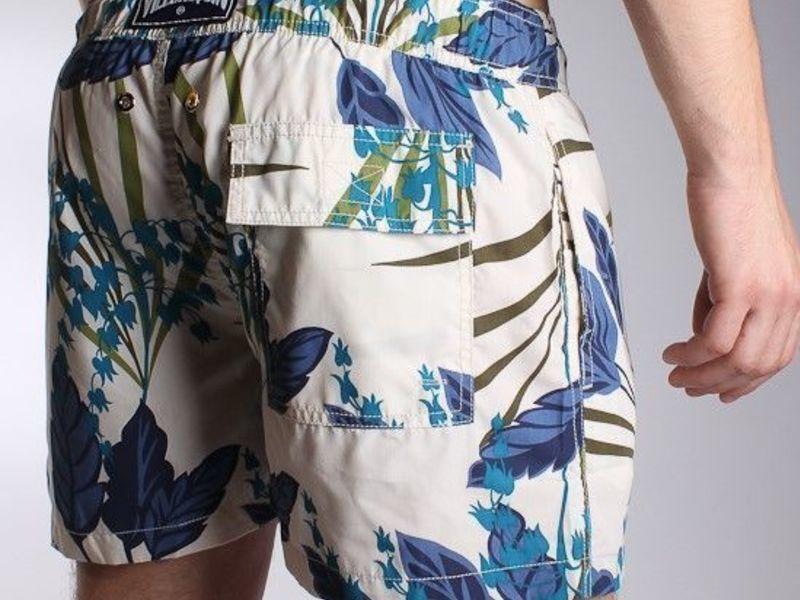 Мужские шорты пляжные с цветами Vilebrequin Flowers