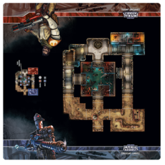 Star Wars Imperial Assault: Coruscant Landfill Playmat