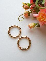 Карабин-кольцо золото, d 25 мм, 6 мм