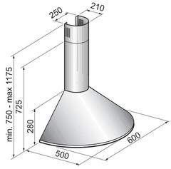 Вытяжка Korting KHC 6930 X - схема