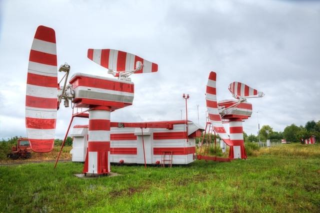СЗЗ и зона ограничения застройки от передающих технических устройств аэродрома