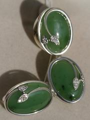 Иоланта (кольцо + серьги из серебра)