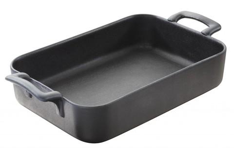 Прямоугольное фарфоровое блюдо для запекания черное, артикул 642056, серия Belle Cuisine