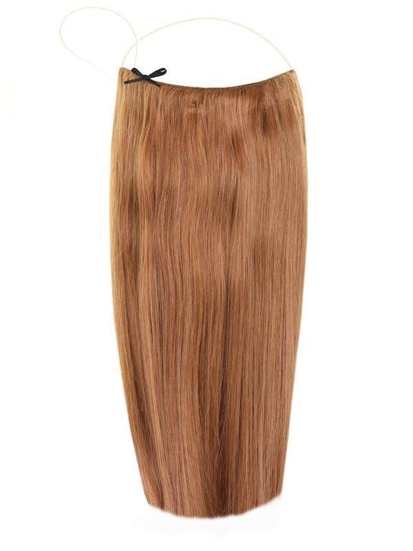 Волосы на леске Flip in- цвет #7-золотистый орех