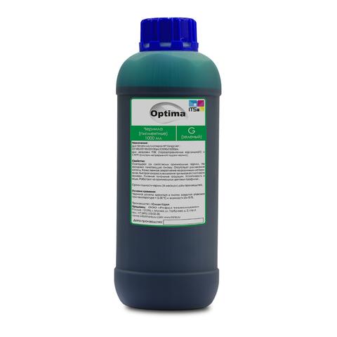 Пигментные чернила Optima для HP Green 1000 мл
