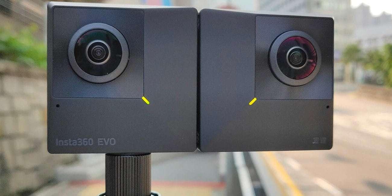 Камера панорамная Insta360 EVO 3D/2D Convertible 360/180° VR Camera на штативе