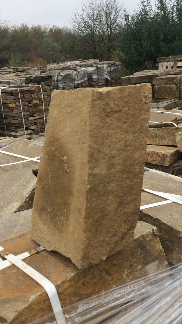 Бутовый камень кладочный Хаки образец