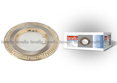 DLS-A103 GU5.3 CHROME+GOLD Светильник декоративный встраиваемый ТМ