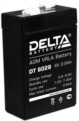 Аккумулятор Delta DT 6028 6В 2,8 А\Ч