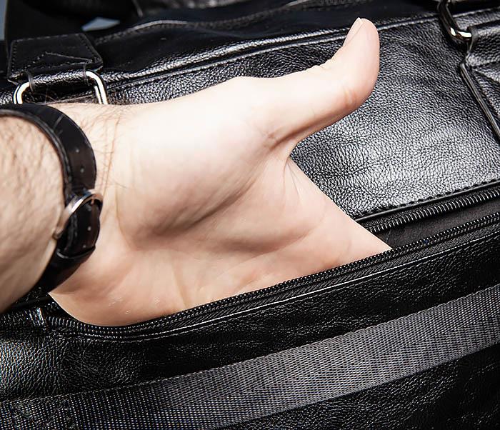 BAG545 Вместительная сумка для поездок из кожи фото 12