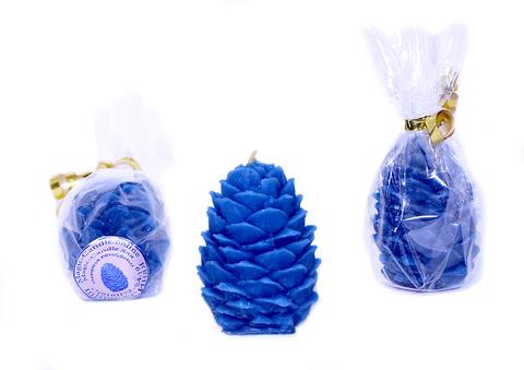 Свеча шишка синяя
