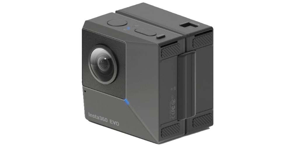 Камера панорамная Insta360 EVO 3D/2D Convertible 360/180° VR Camera вид сбоку