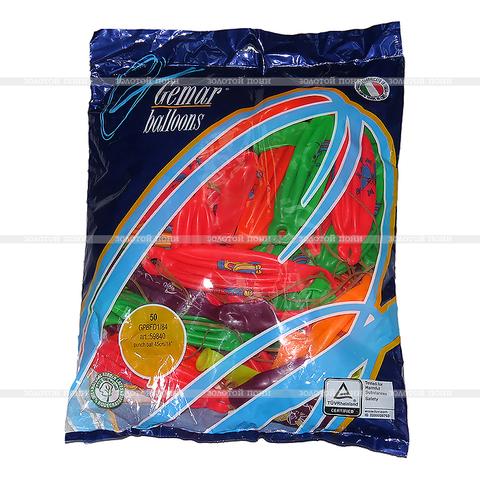 Воздушные шары с принтами (50 штук) 45 см ZPSS-IG-12-020