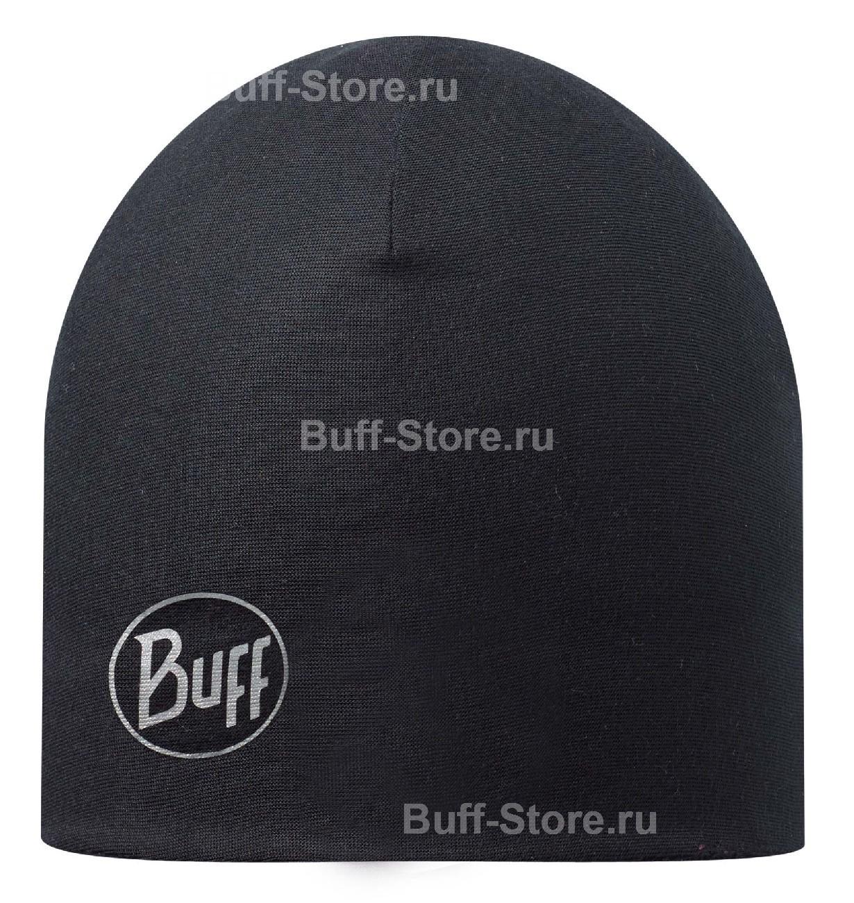Флисовые шапки Тонкая шапка с флисовой подкладкой Buff Black 110948.999.10.00.jpg
