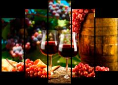 """Модульная картина """" Домашнее вино из винограда """""""
