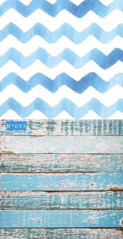 Фотофон виниловый «Потертые голубые доски и обои» №093