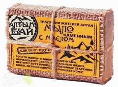 Картинка Мыло Алтын Бай каменное масло