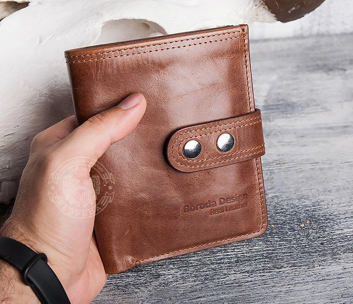 WL283-2 Крутое мужское портмоне ручной работы из кожи фото 10