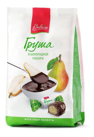 ВИВАЛЬ Груша в шоколадной глазури 180г
