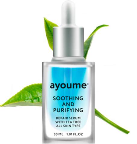 AYOUME Сыворотка для лица успокаивающая  AYOUME Tea Tree Soothing-&-Purifying serum 30мл